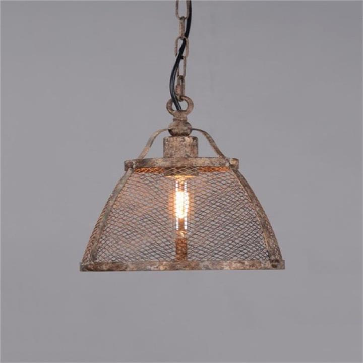 Lorenzo Rustic Metal Pendant Light, Medium