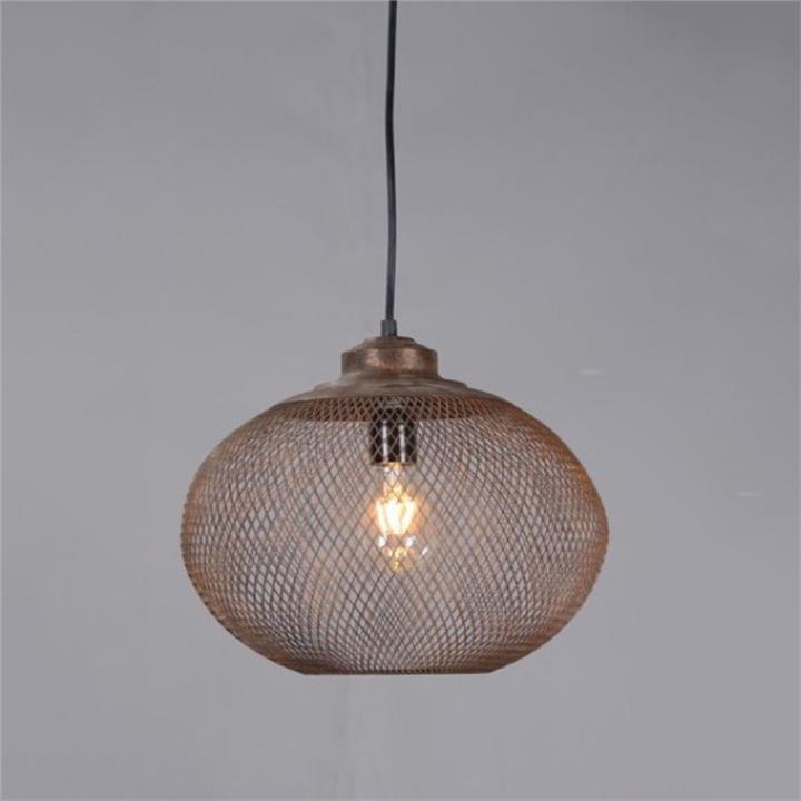 Carlo Rustic Metal Pendant Light, Medium