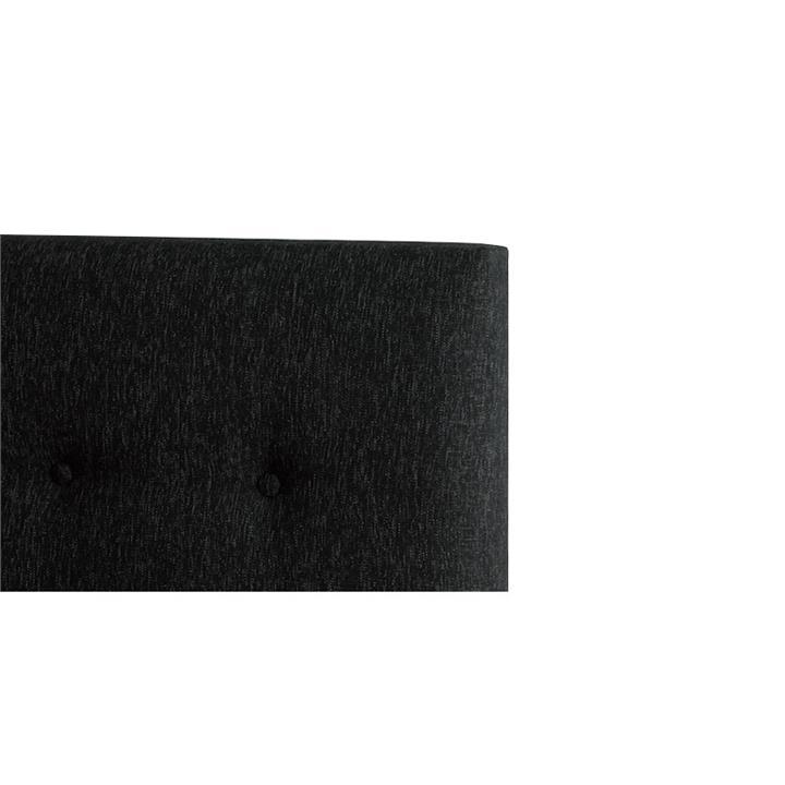 Alex's Fabric Headboard, Double, Charcoal