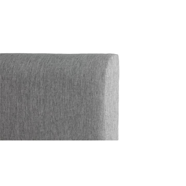 George's Fabric Headboard, King, Light Grey
