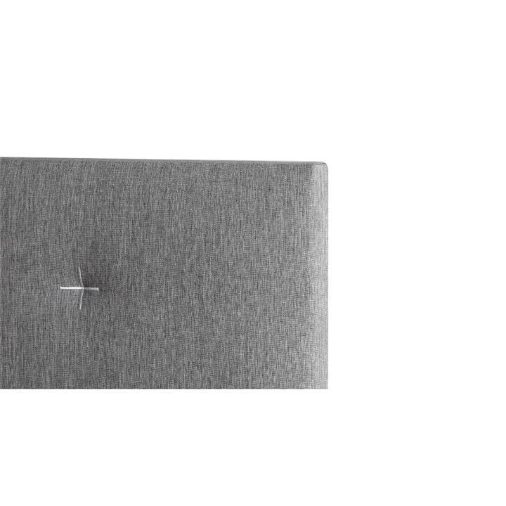 Samantha's Fabric Headboard, King, Light Grey / White Stitch
