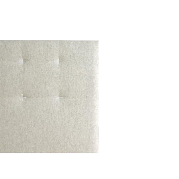Samantha's Fabric Headboard, King, Sand / White Stitch