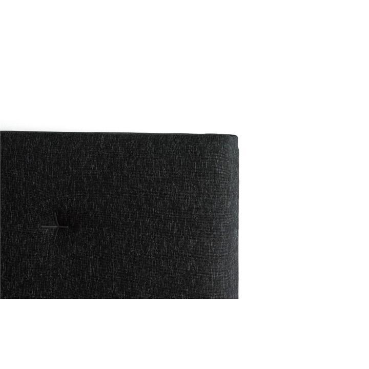 Samantha's Fabric Headboard, Queen, Charcoal / Black Stitch