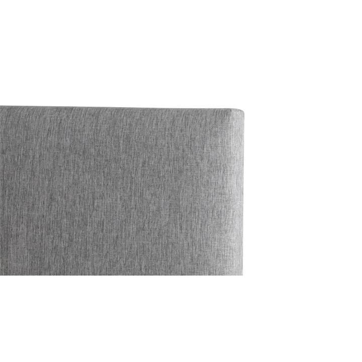 Tom's Fabric Headboard, Double, Light Grey