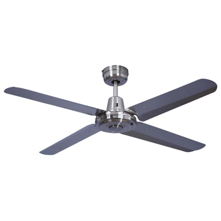 "Swift Metal Ceiling Fan, 130cm/52"", Brushed Chrome"