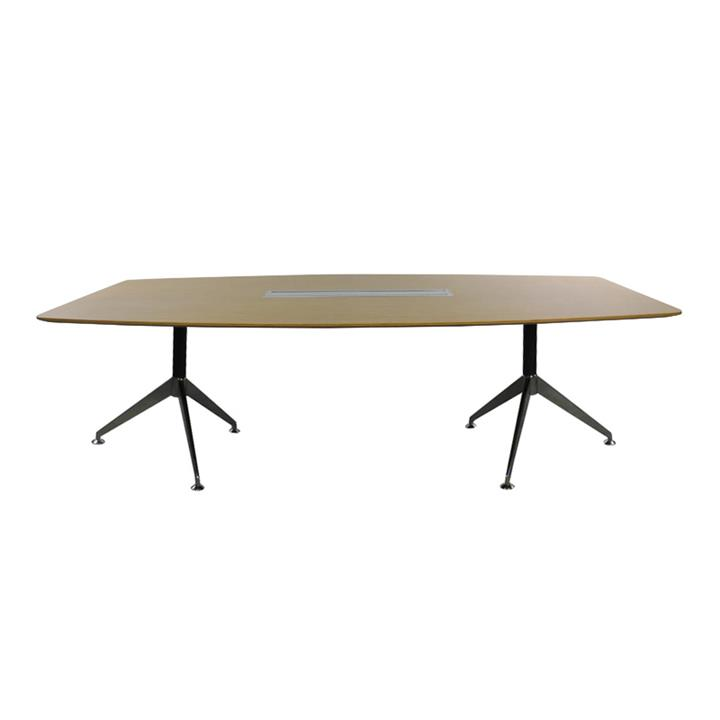 Lazio Boardroom Table, 240m, Zebra Oak