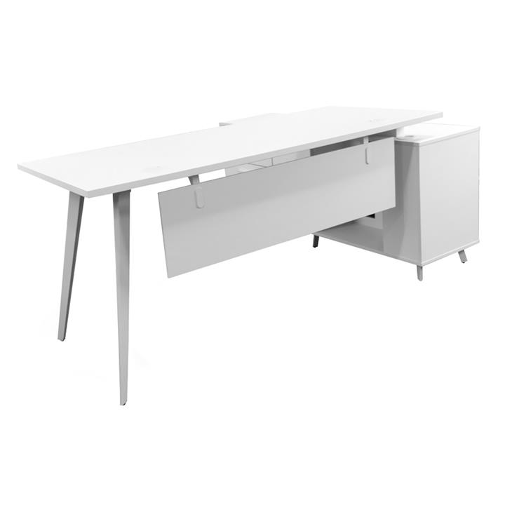 Localita Executive Office Desk with Left Return, 160cm, White