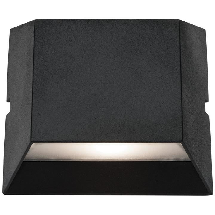 Ethan IP54 LED Outdoor Up/Down Wall Light, Black