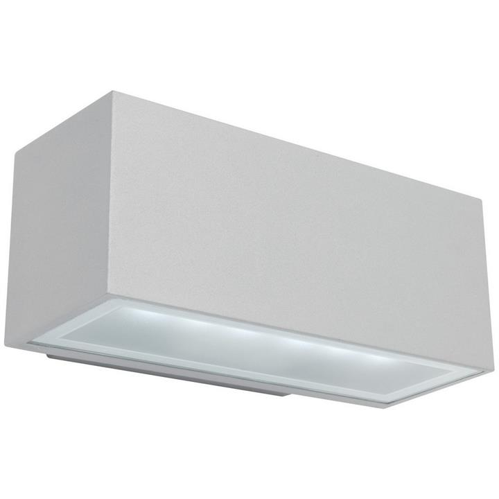 Cluny IP65 PLC Outdoor Wall Light, Silver