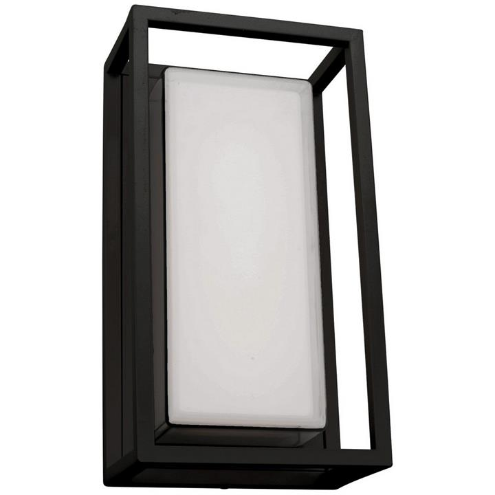 Cayman IP54 LED Outdoor Wall Light, Black