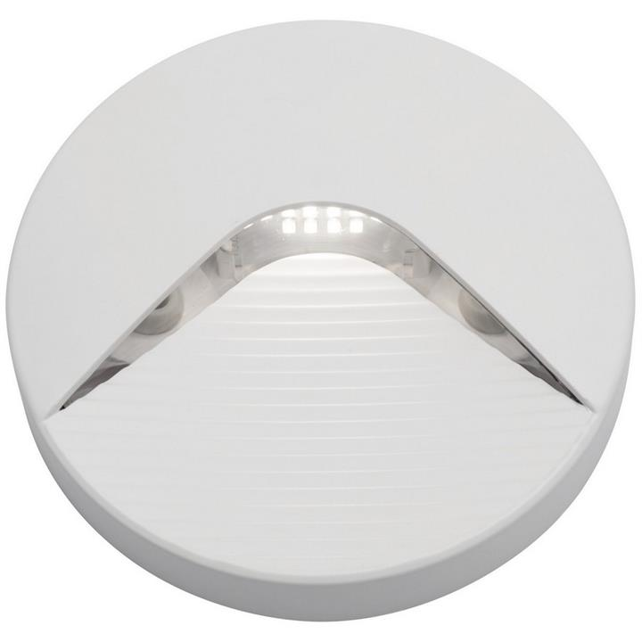 Justin IP65 LED Round Indoor/Outdoor Step / Wall Light, White