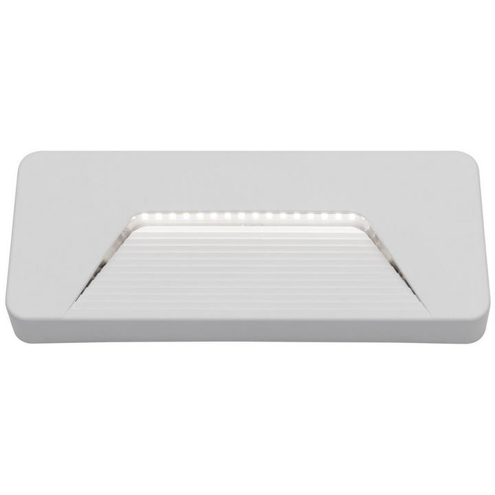 Justin IP65 LED Rectangle Indoor/Outdoor Step / Wall Light, White