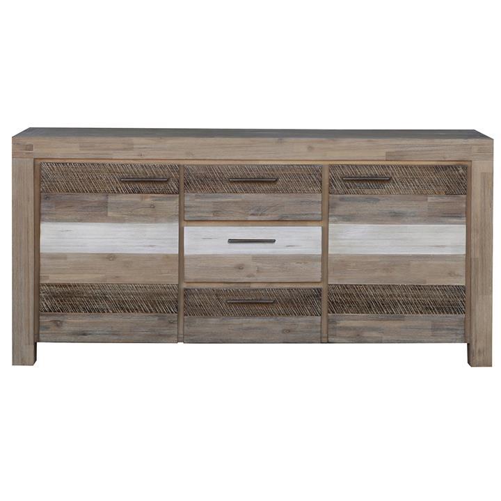 Albergo Acacia Timber 2 Door 3 Drawer Buffet Table, 165cm