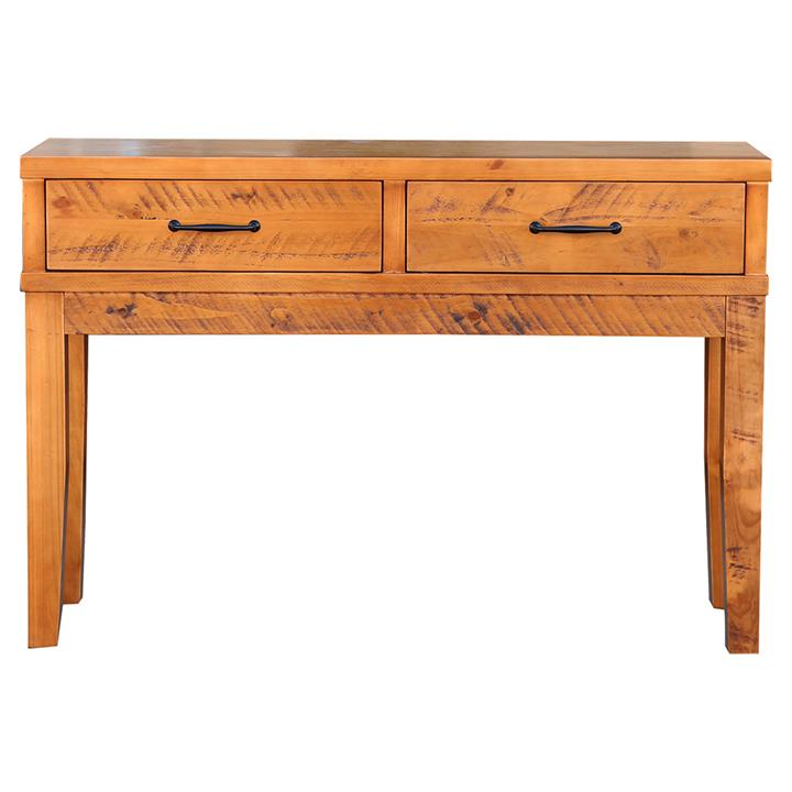 Belfort Pine Timber Sofa Table, 130cm