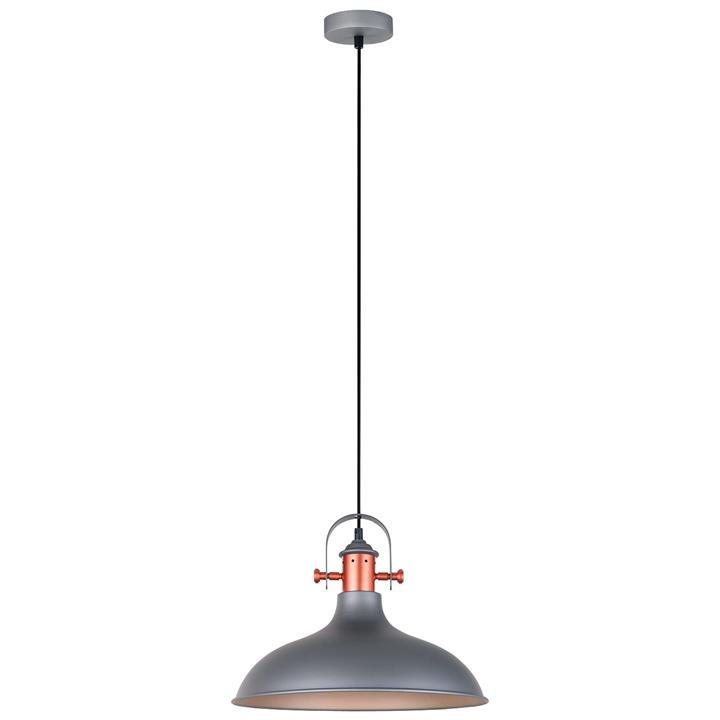 Narvik Iron Pendant Light, Matt Grey