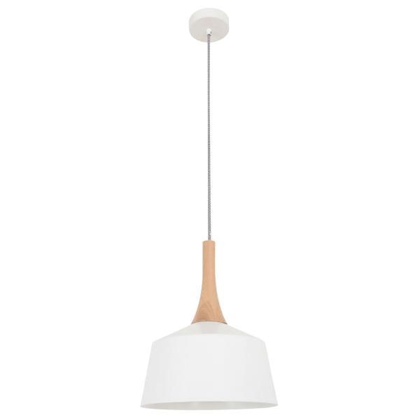 Nordic Steel Pendant Light, Small, White