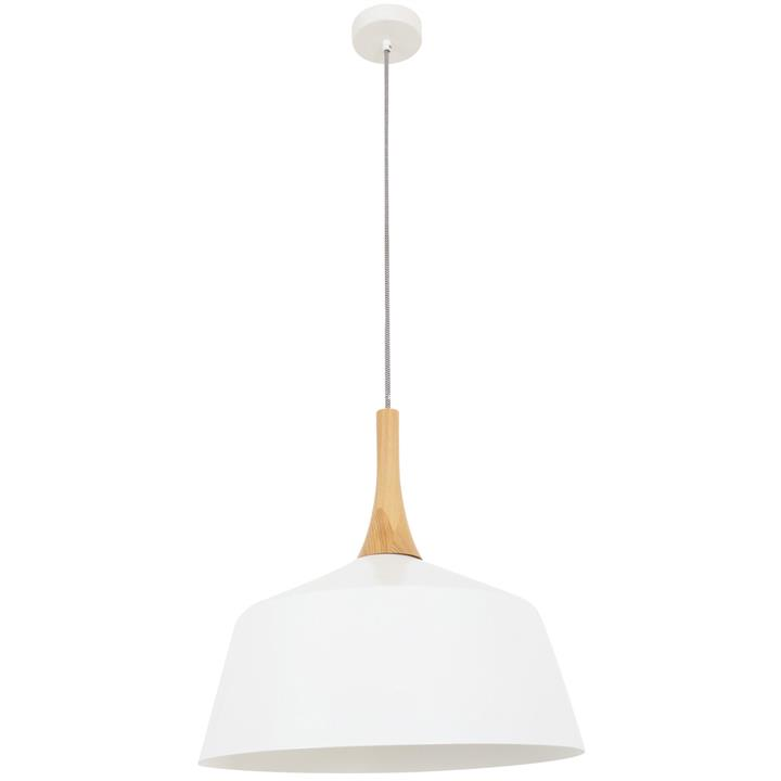 Nordic Steel Pendant Light, Medium, White