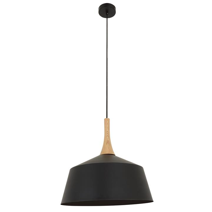 Nordic Steel Pendant Light, Medium, Black