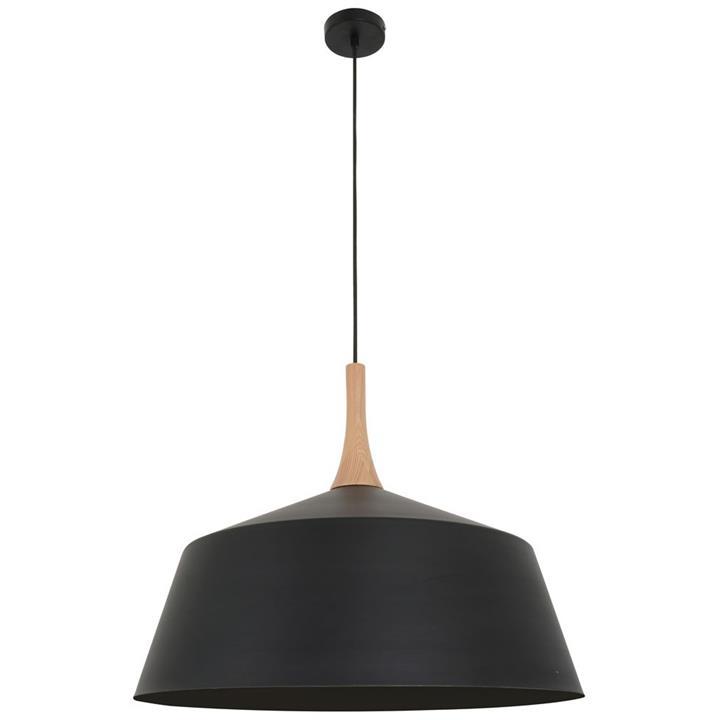 Nordic Steel Pendant Light, Large, Black