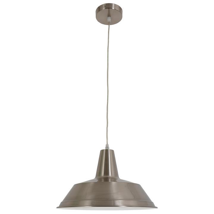 Divo Industrial Steel Pendant Light, Satin Chrome