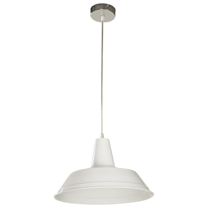 Divo Industrial Steel Pendant Light, White