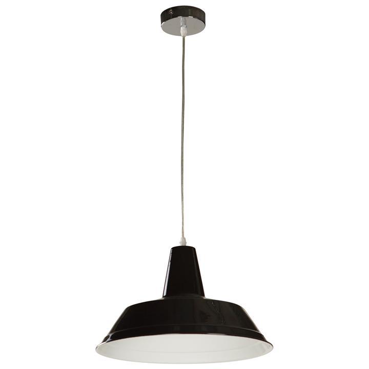 Divo Industrial Steel Pendant Light, Black