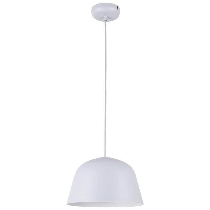 Pastel Iron Pendant Light, Angled Dome, Matt Grey