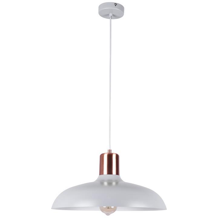 Pastel Iron Pendant Light, Flat Dome, Matt Grey