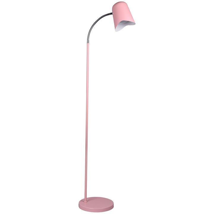 Pastel Iron Floor Lamp, Matt Pink