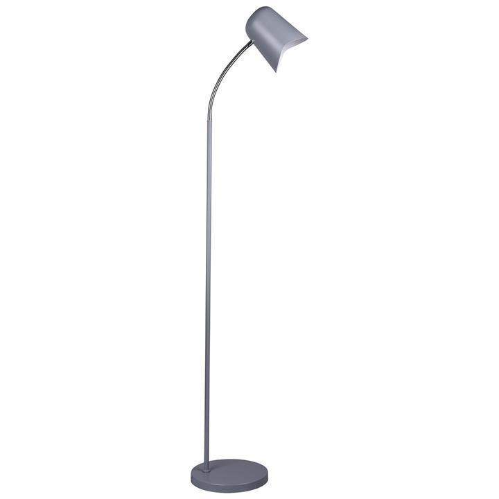 Pastel Iron Floor Lamp, Matt Grey
