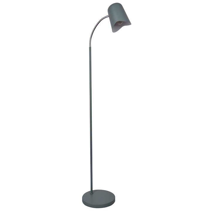 Pastel Iron Floor Lamp, Matt Green