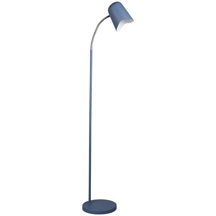 Pastel Iron Floor Lamp, Matt Blue