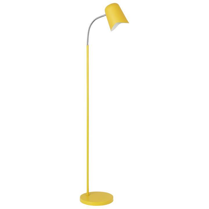 Pastel Iron Floor Lamp, Matt Yellow