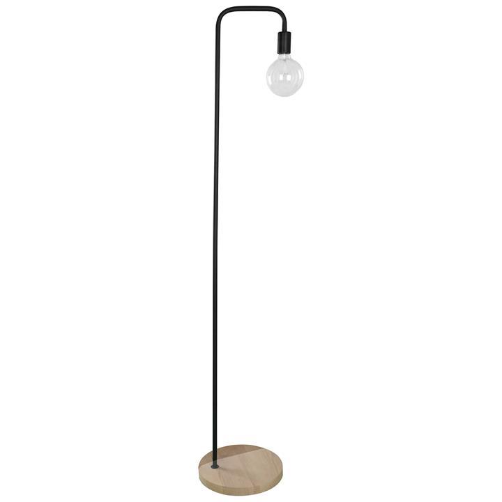 Slim Steel Floor Lamp, Black
