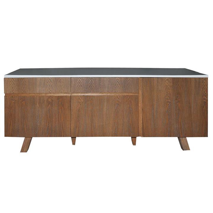 Varallo Wooden 2 Door 3 Drawer Buffet Table, 180cm, White Top