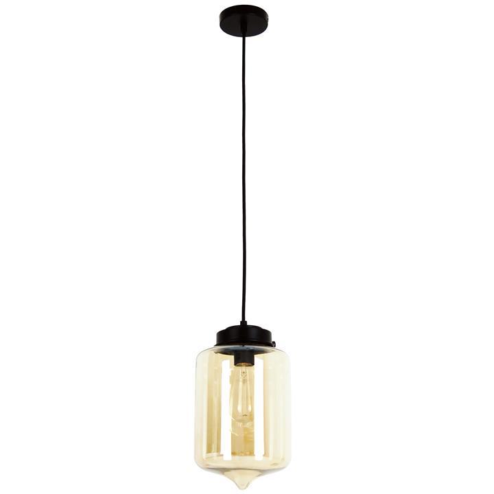 Mason Glass Pendant Light, Tipped, Amber