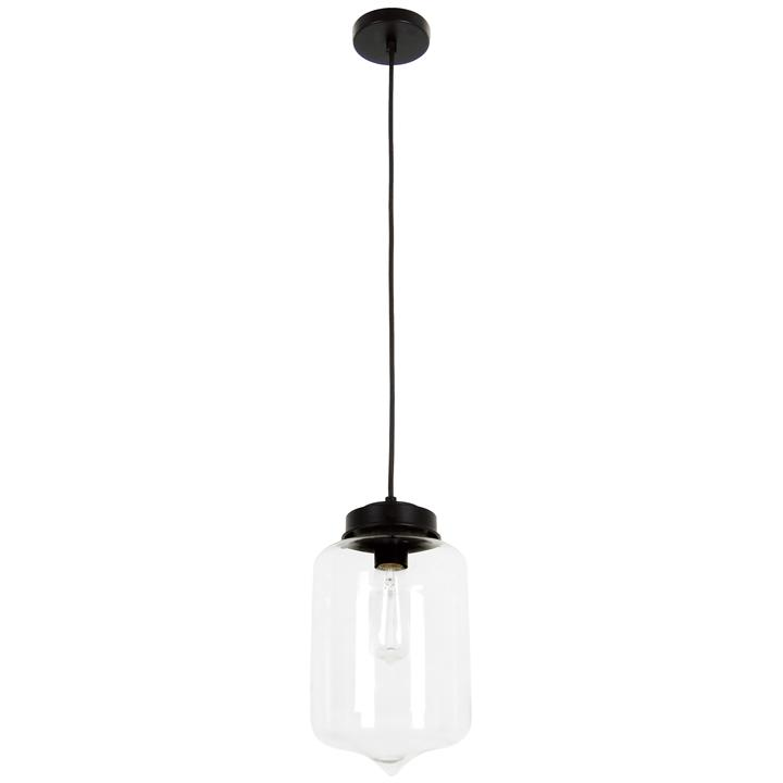 Mason Glass Pendant Light, Tipped, Clear