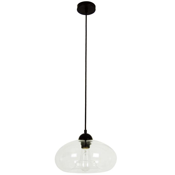 Mason Glass Pendant Light, Bubble, Clear