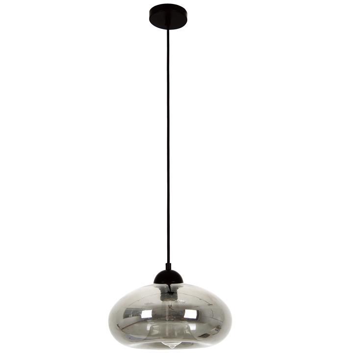 Mason Glass Pendant Light, Bubble, Smoke