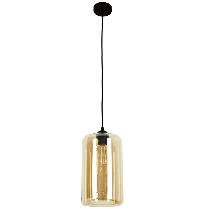 Mason Glass Pendant Light, Oblong, Amber