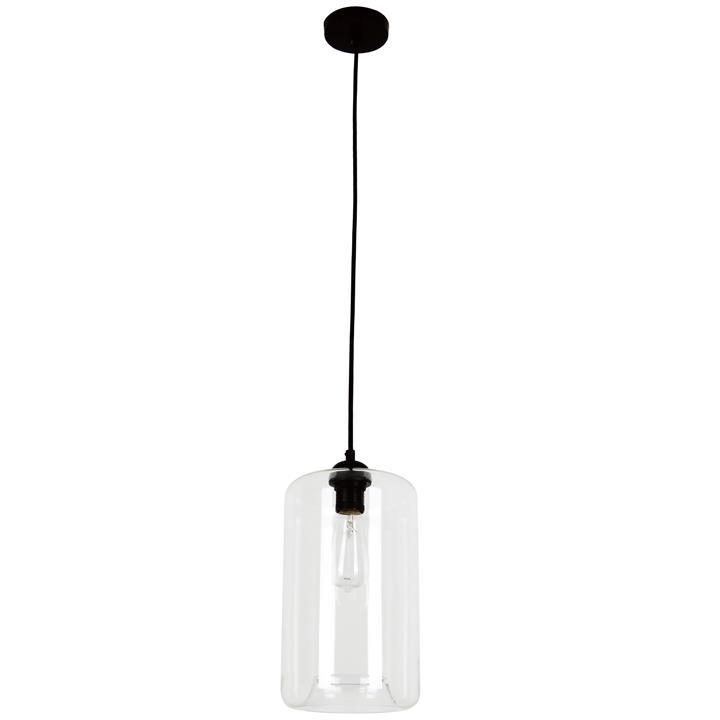 Mason Glass Pendant Light, Oblong, Clear
