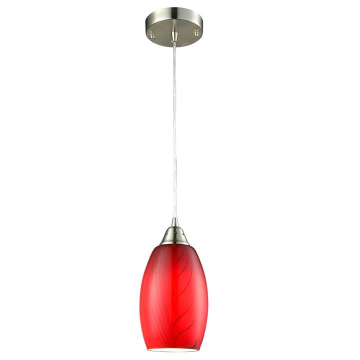 Glaze Glass Pendant Light, Red