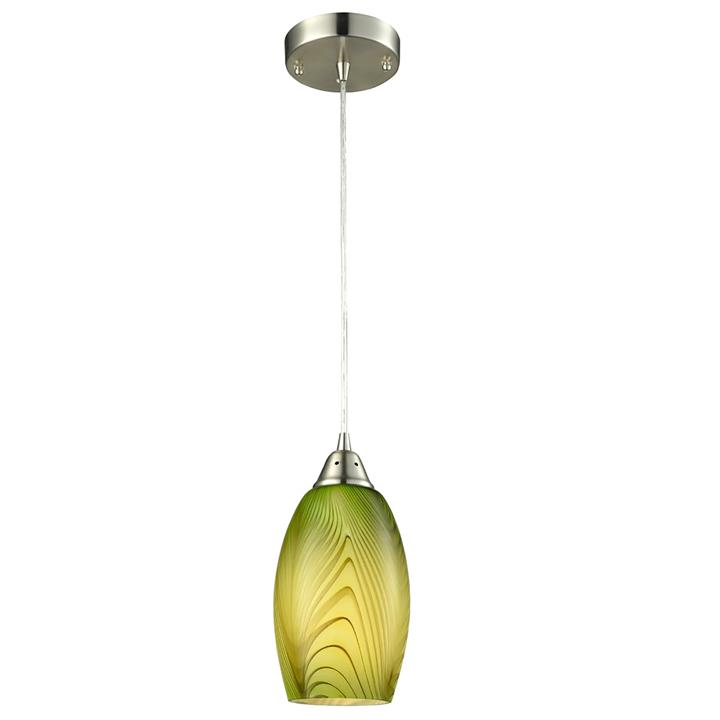 Glaze Glass Pendant Light, Green