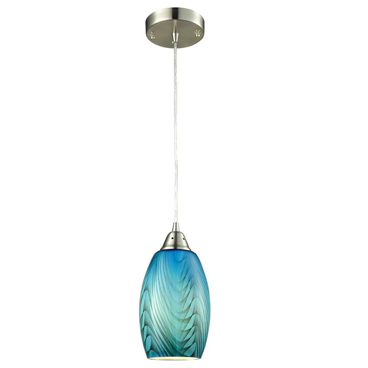 Glaze Glass Pendant Light, Blue