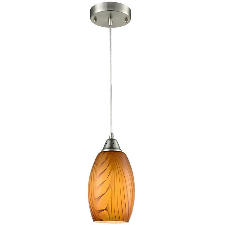 Glaze Glass Pendant Light, Amber