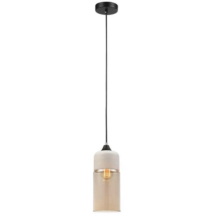 Casa Glass Pendant Light, Tube