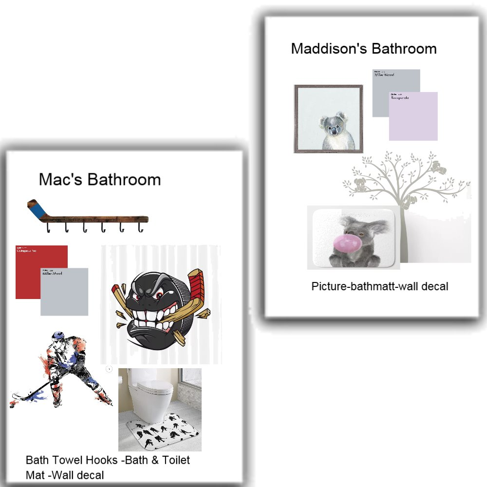 Matthews Kids Bathrooms Interior Design Mood Board by jyoung on Style Sourcebook