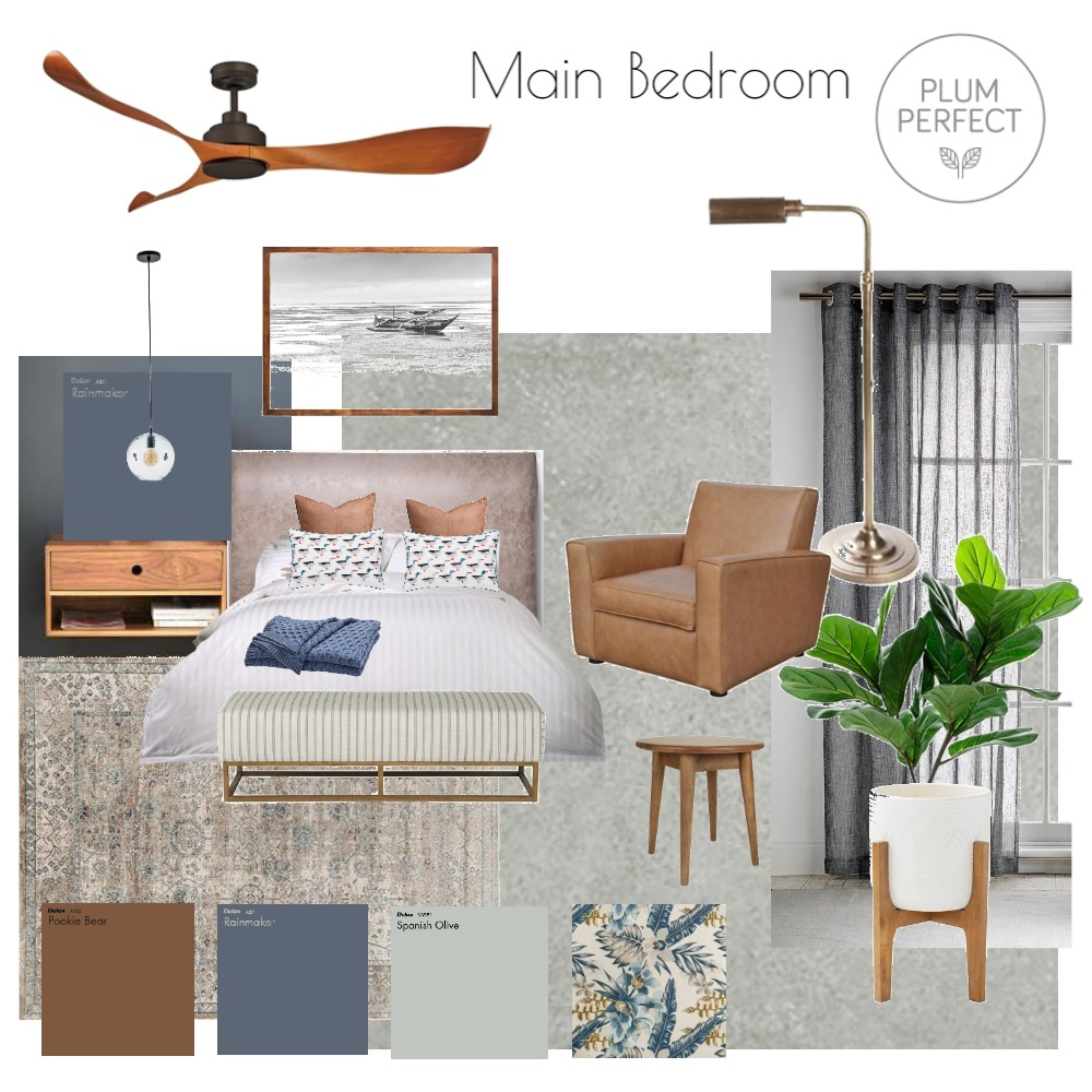 Main Bedroom Interior Design Mood Board by plumperfectinteriors on Style Sourcebook
