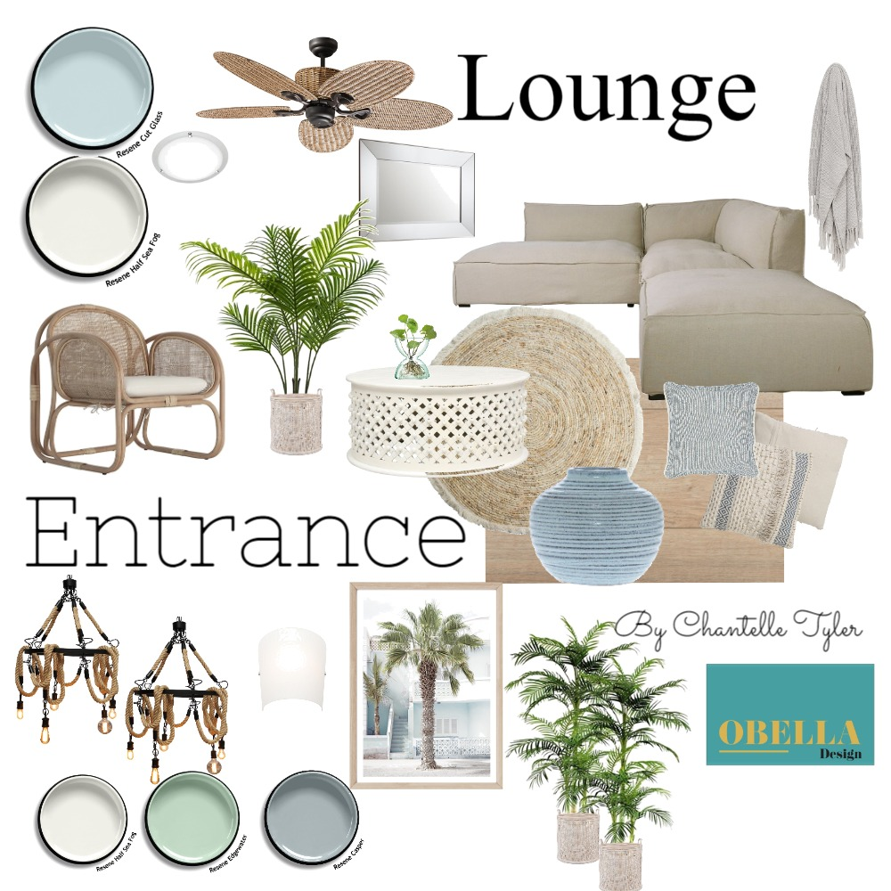 IDI Module 7 Coastal Analogus Interior Design Mood Board by obelladesign on Style Sourcebook