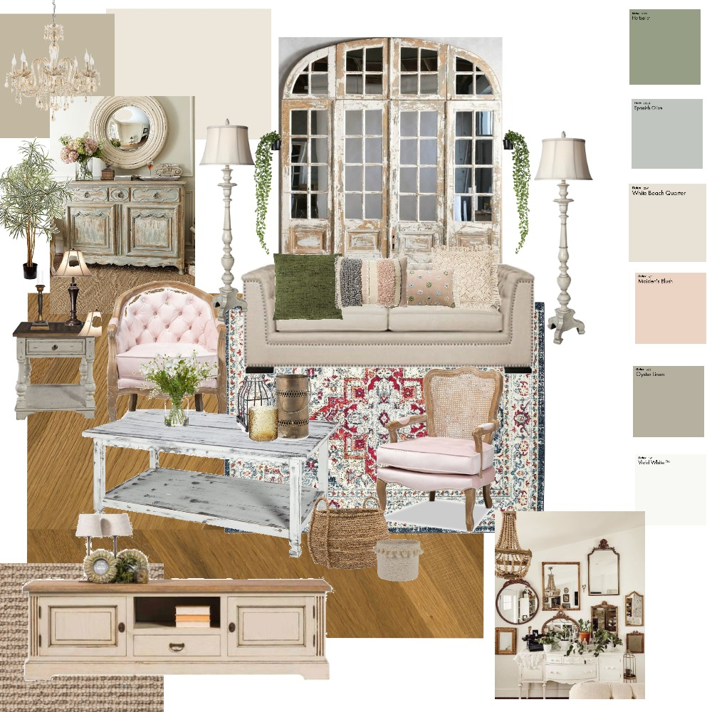modern shabby chic Interior Design Mood Board by khania on Style Sourcebook